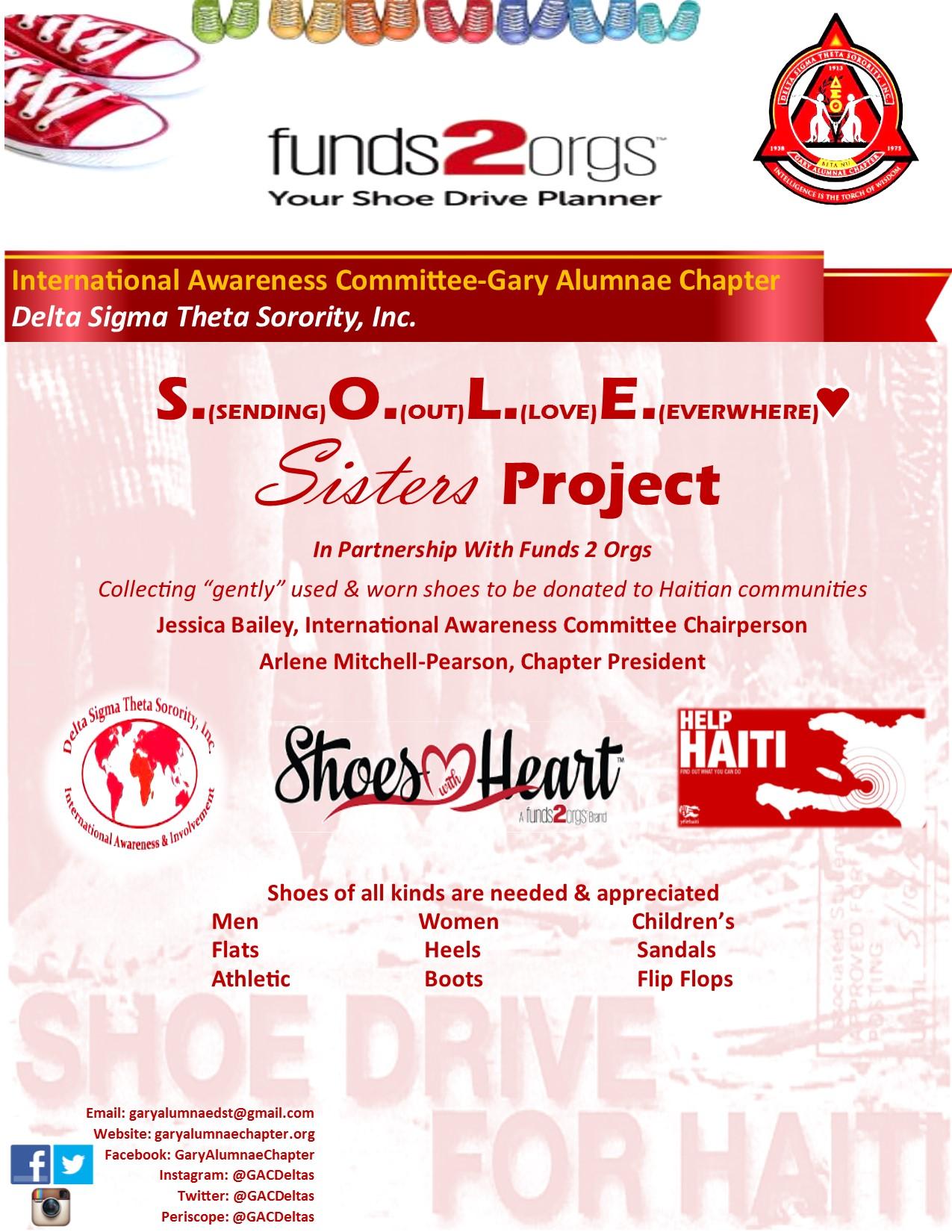 S.O.L.E. Sisters Shoe Drive
