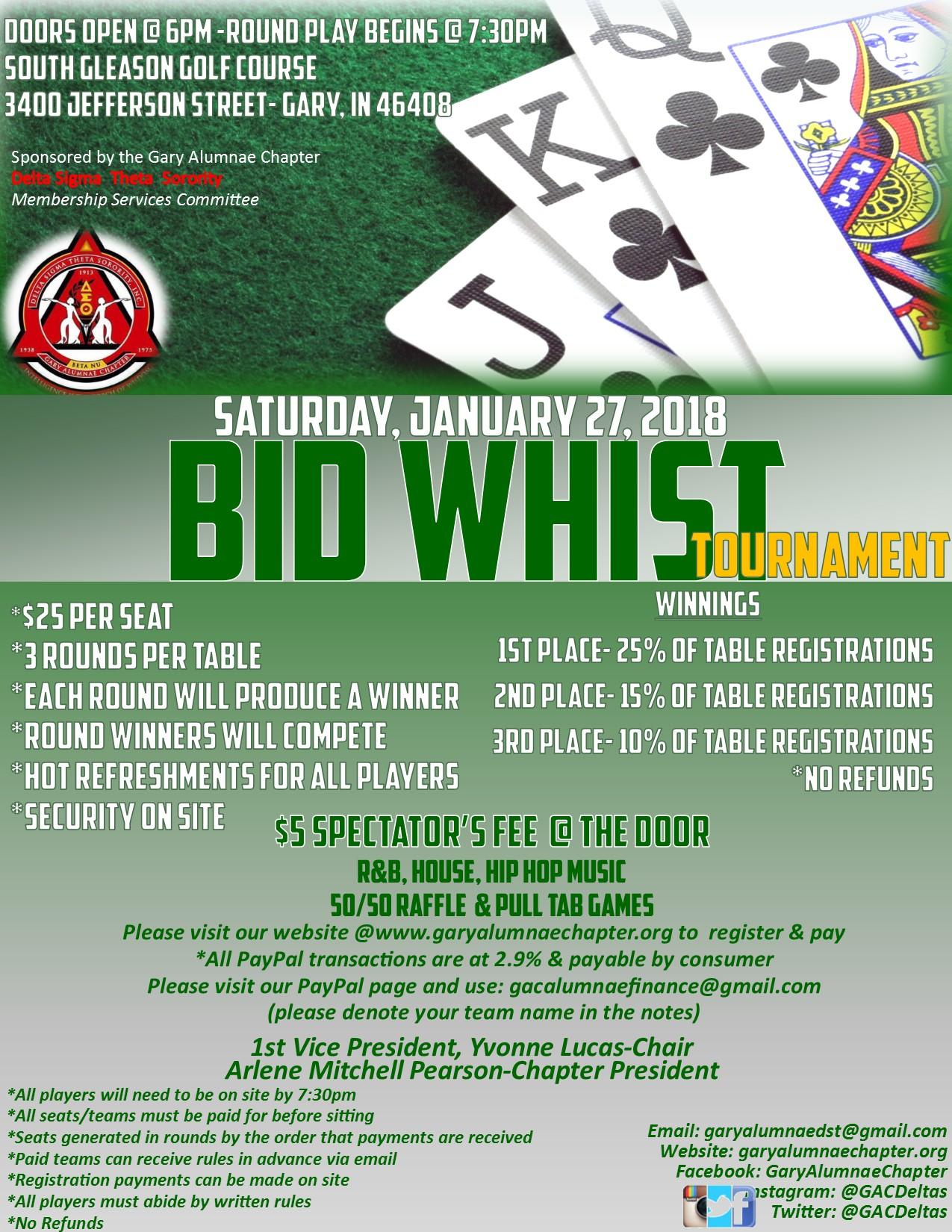 Bid Whist Tournament