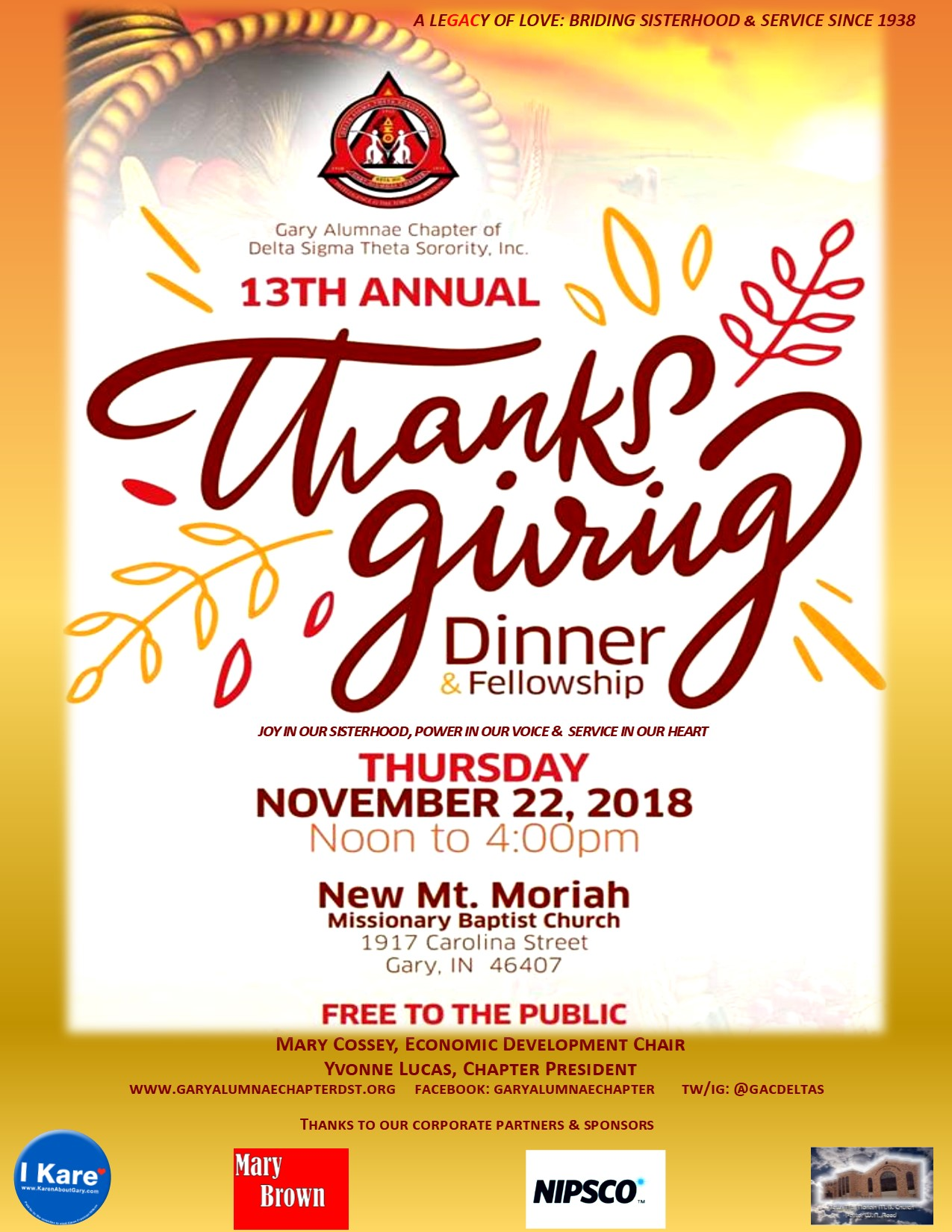 Thanksgiving Day Dinner & Fellowship
