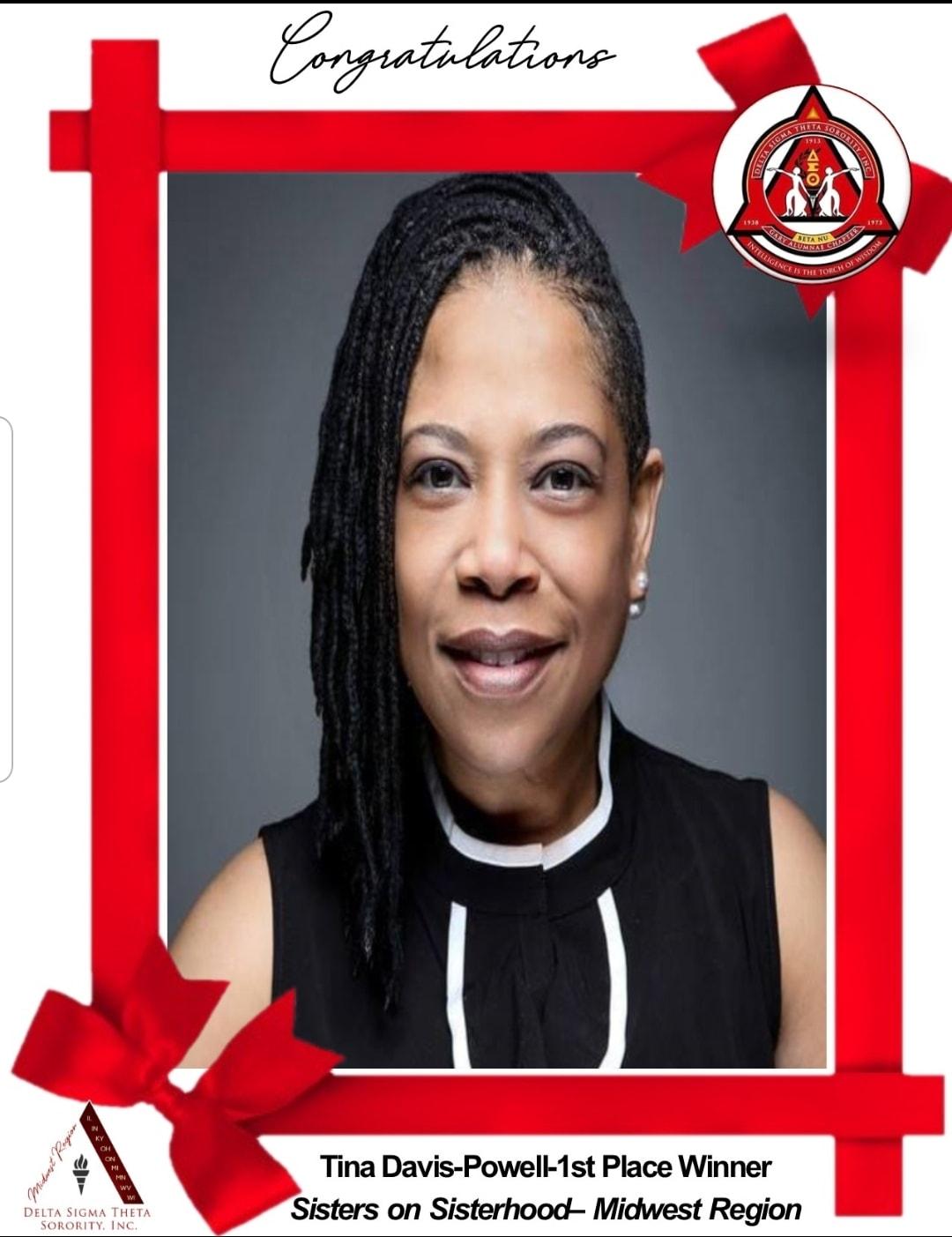 Davis-Powell wins Sister on Sisterhood Award for the Midwest Region!