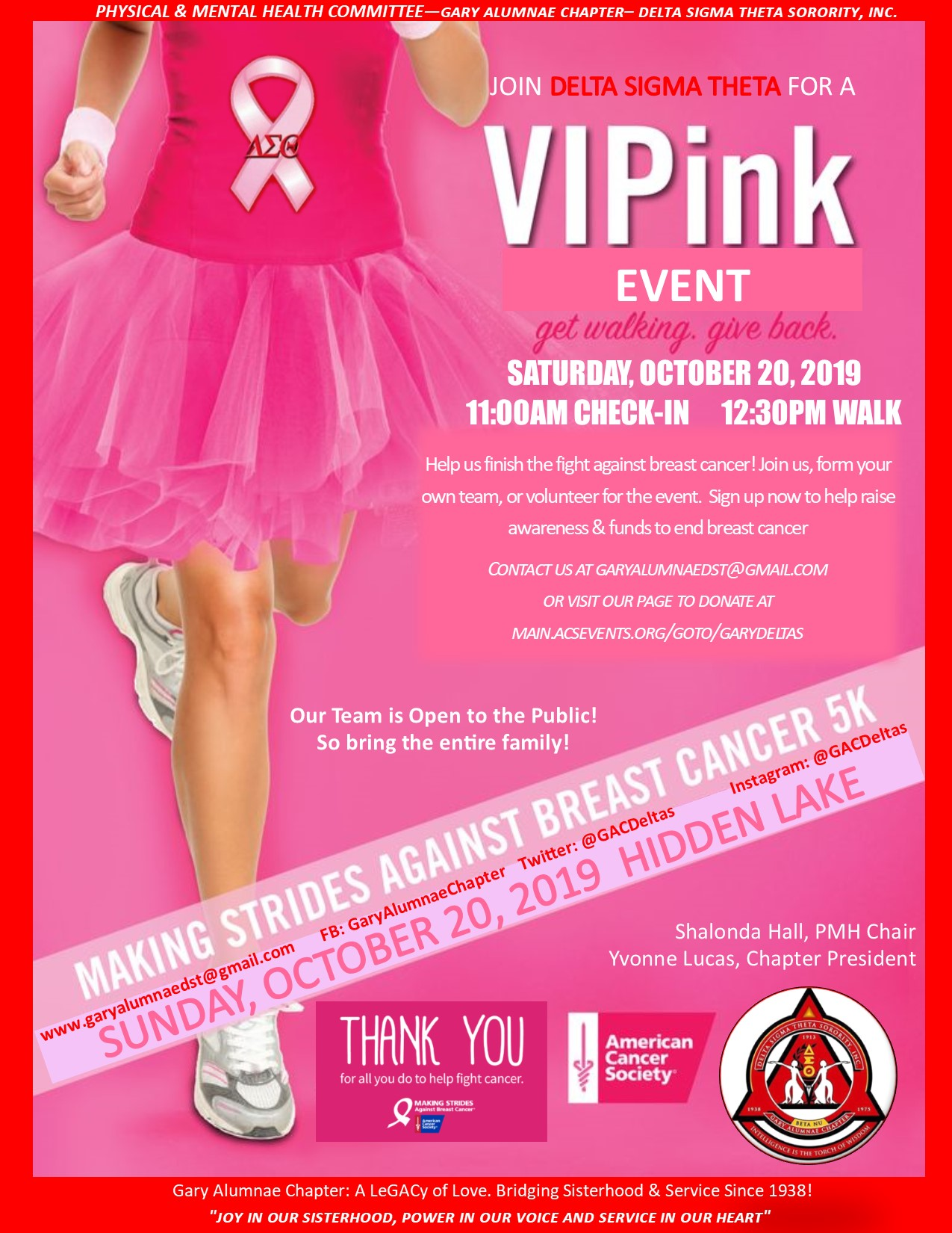Go VIPink for the Breast Cancer Walk 2019!