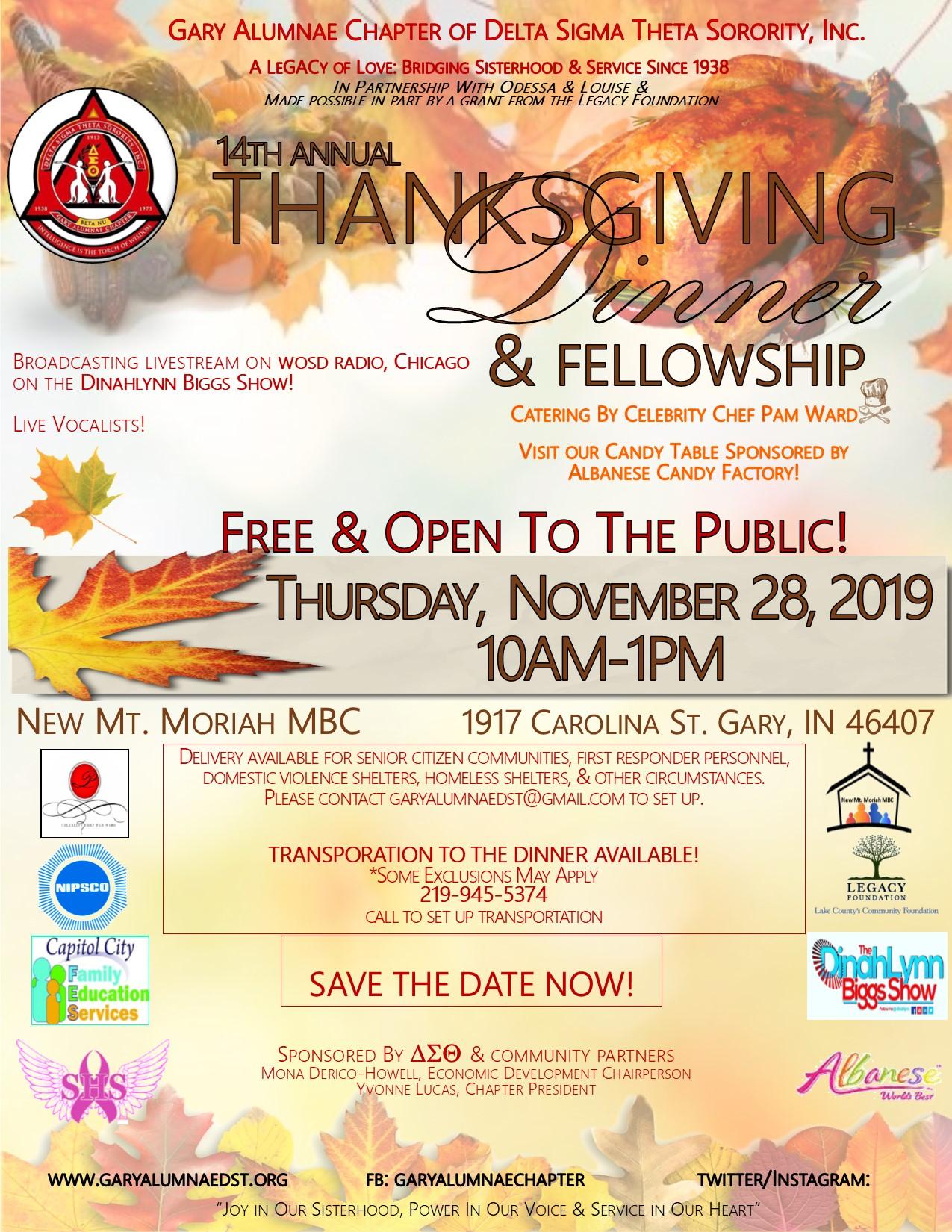 14th Annual Thanksgiving Dinner & Fellowship