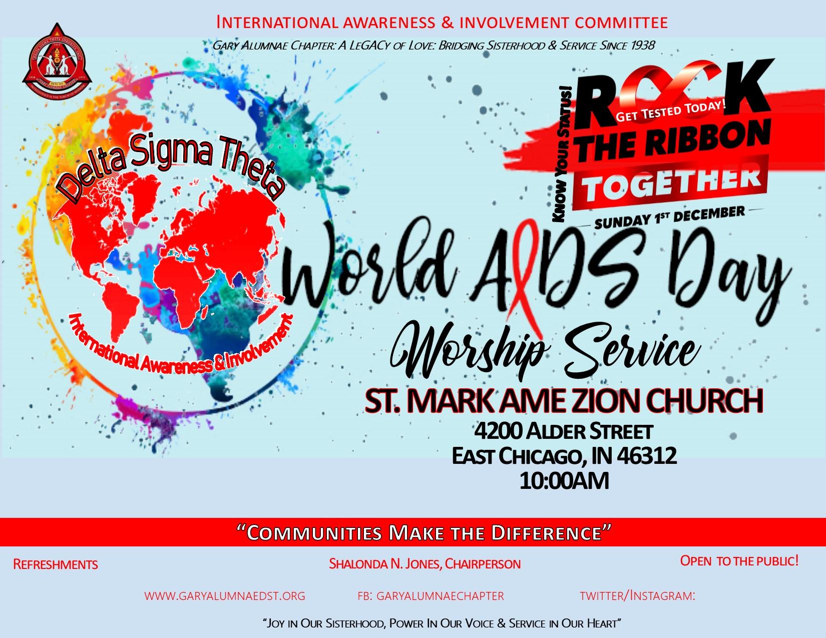WORLD AIDS DAY WORSHIP 2019