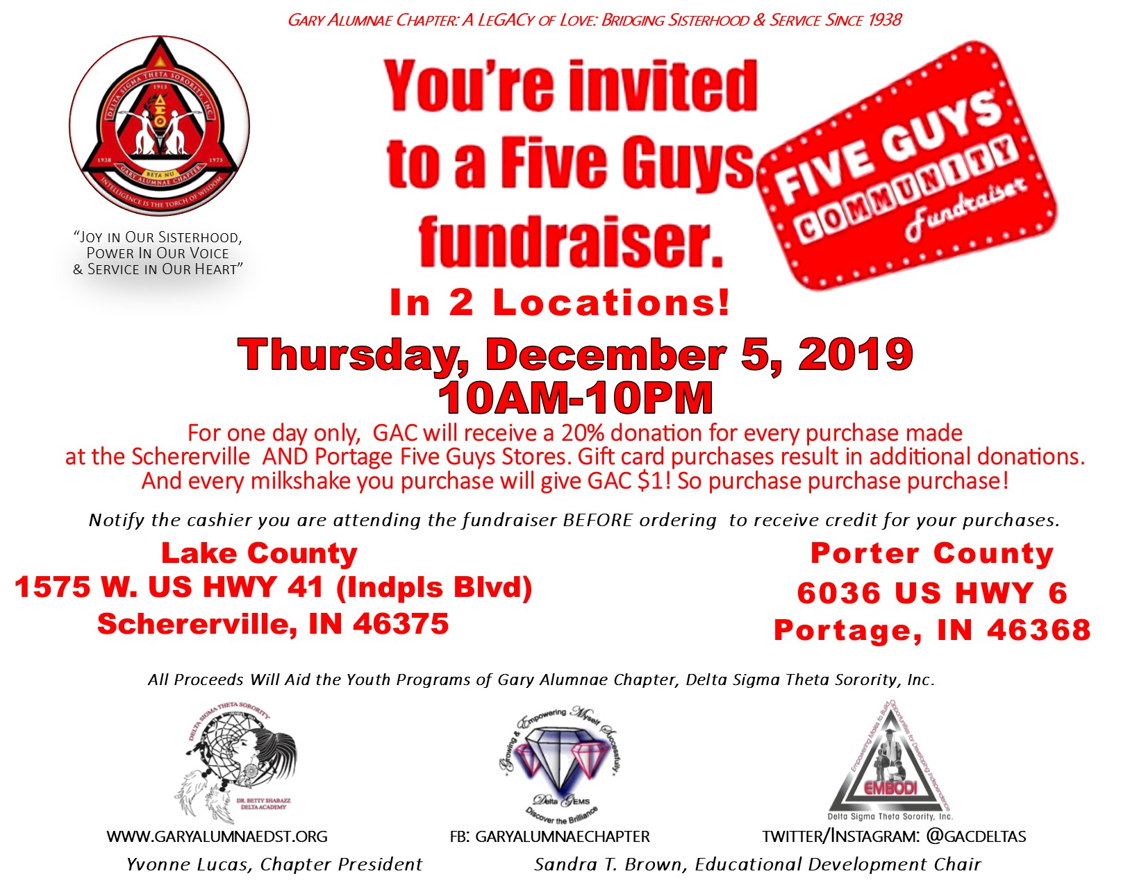 FIVE GUYS FUNDRAISING EVENT