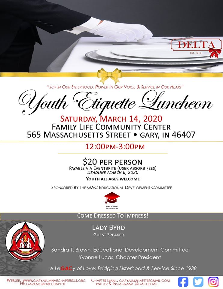 Youth Etiquette Luncheon