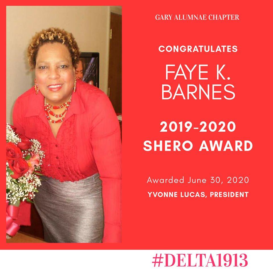 GAC SHERO Award Winner- Faye K. Barnes