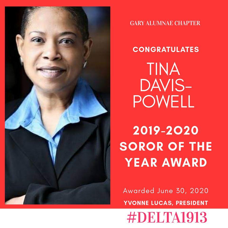 GAC Soror of the Year Winner- Tina Y. Davis-Powell