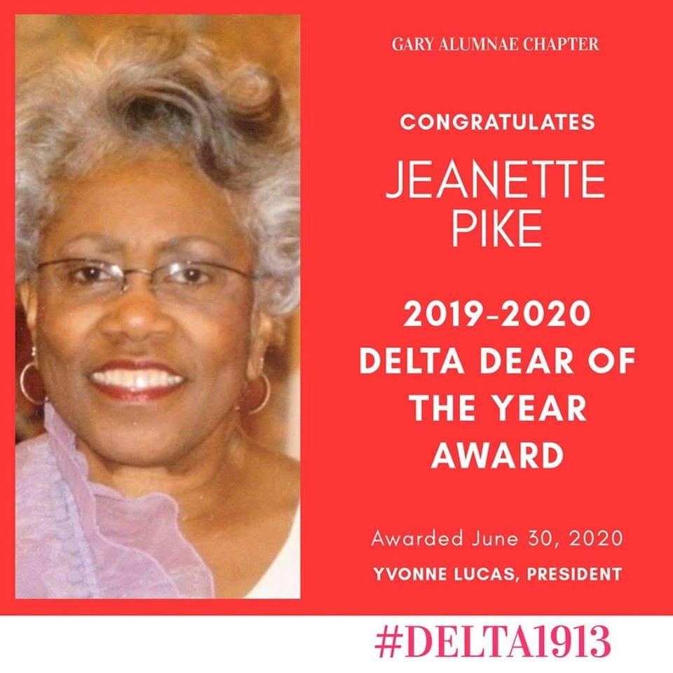 GAC Delta DEAR of the Year Winner- Jeanette Pike