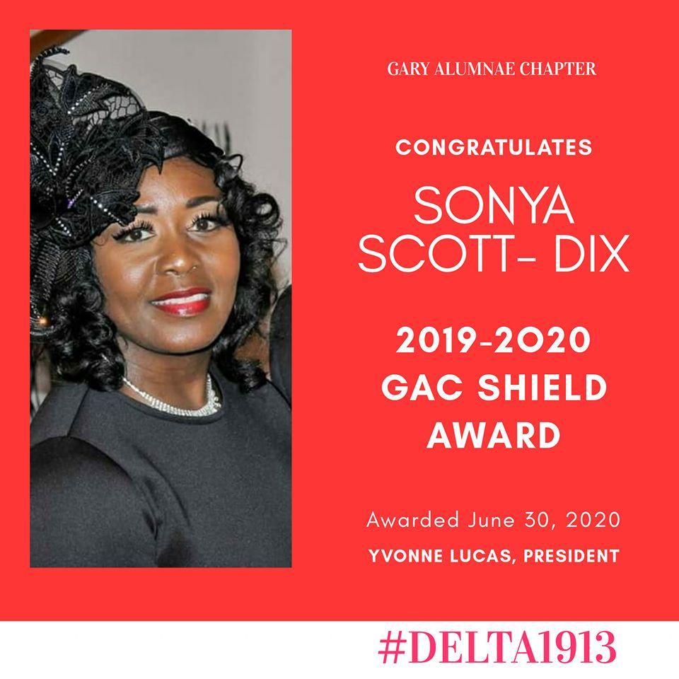 GAC SHIELD Award Winner- Sonya Scott-Dix