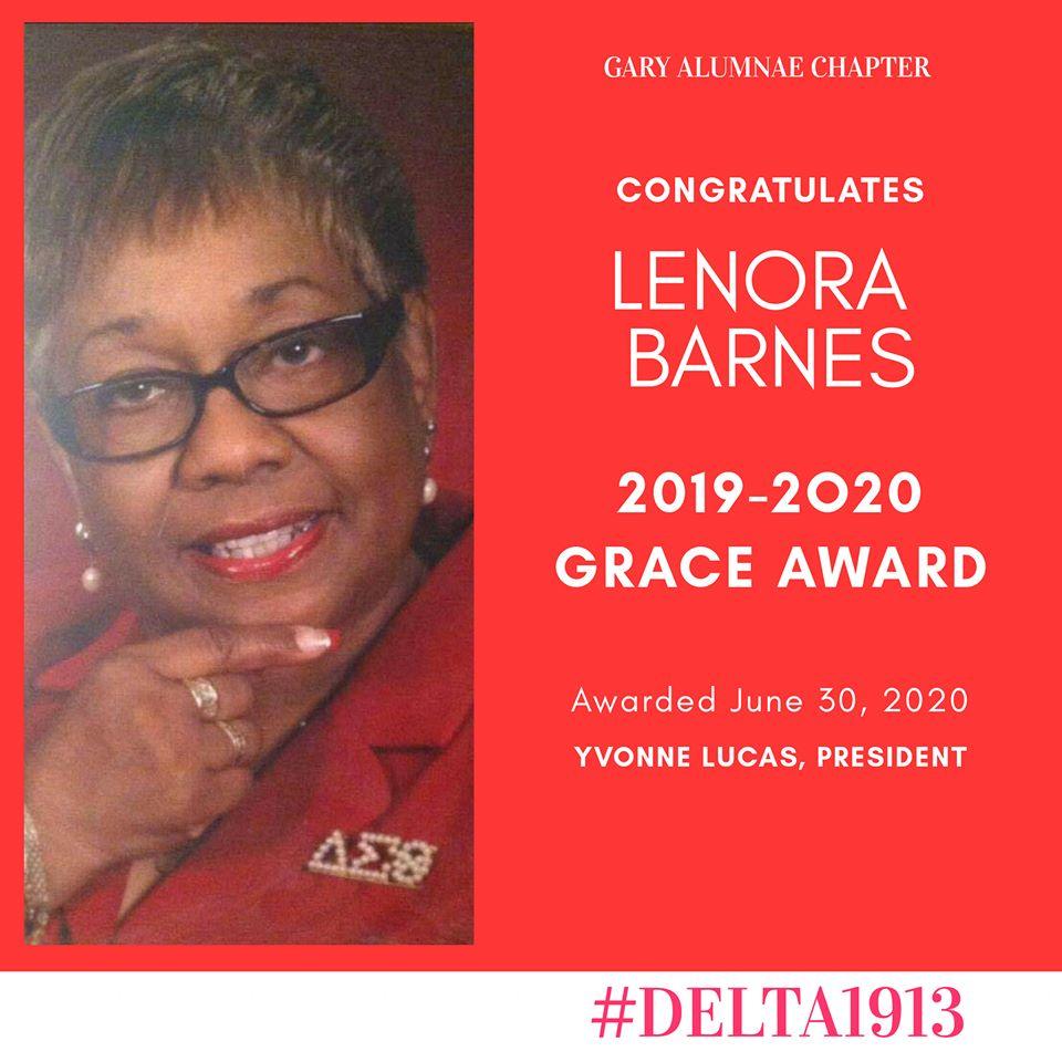 GAC GRACE Award Winner- Lenora Barnes