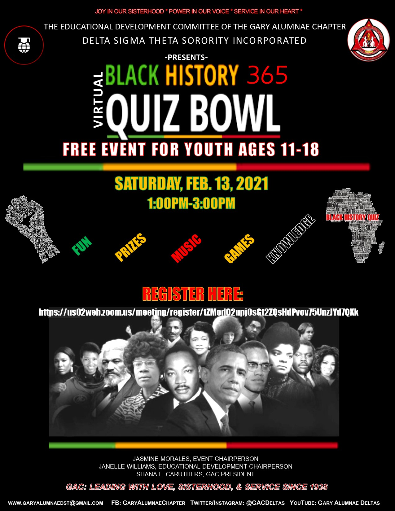 BLACK HISTORY 365 BOWL (Please click on the flyer to register)