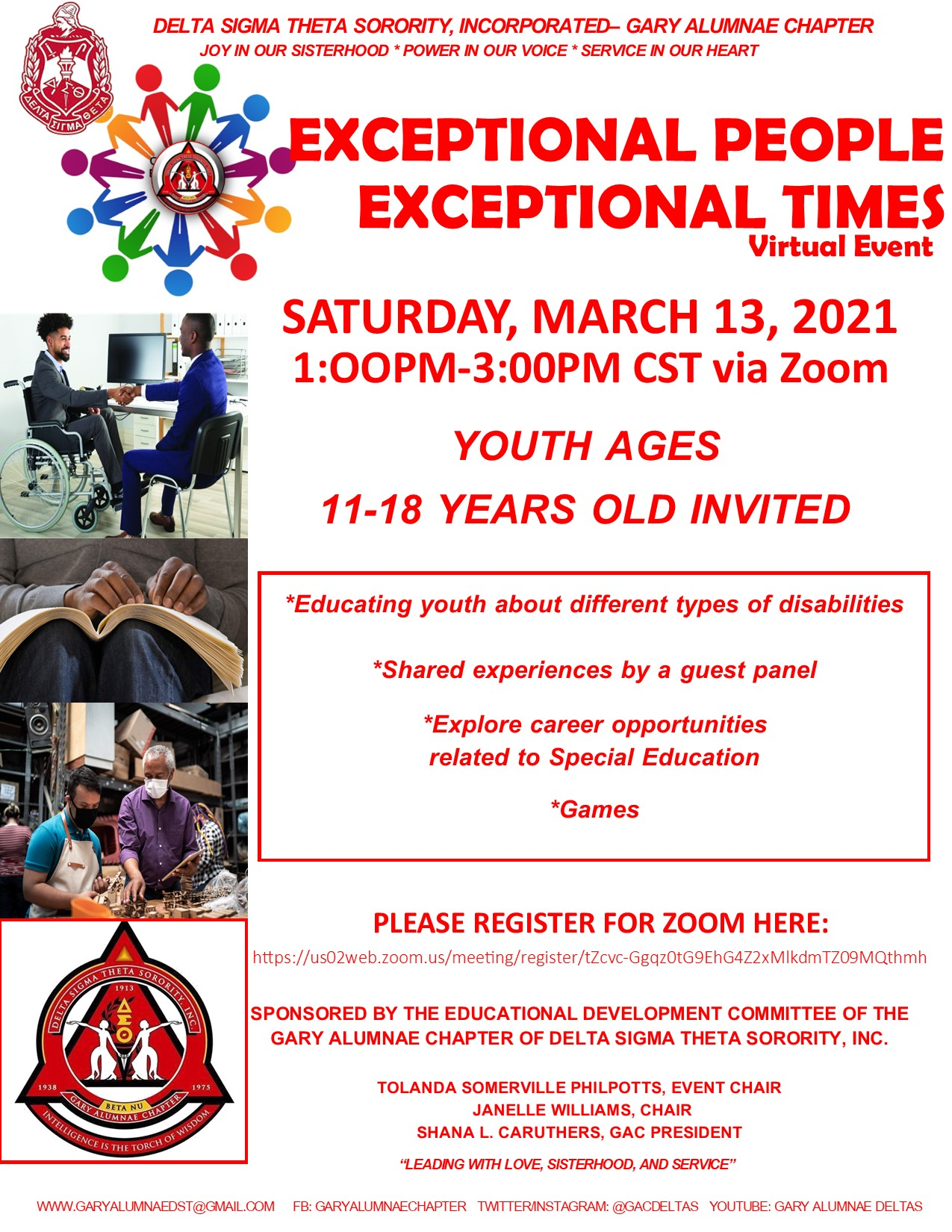 EXCEPTIONAL PEOPLE EXCEPTIONAL TIMES (Please click on the flyer to register)