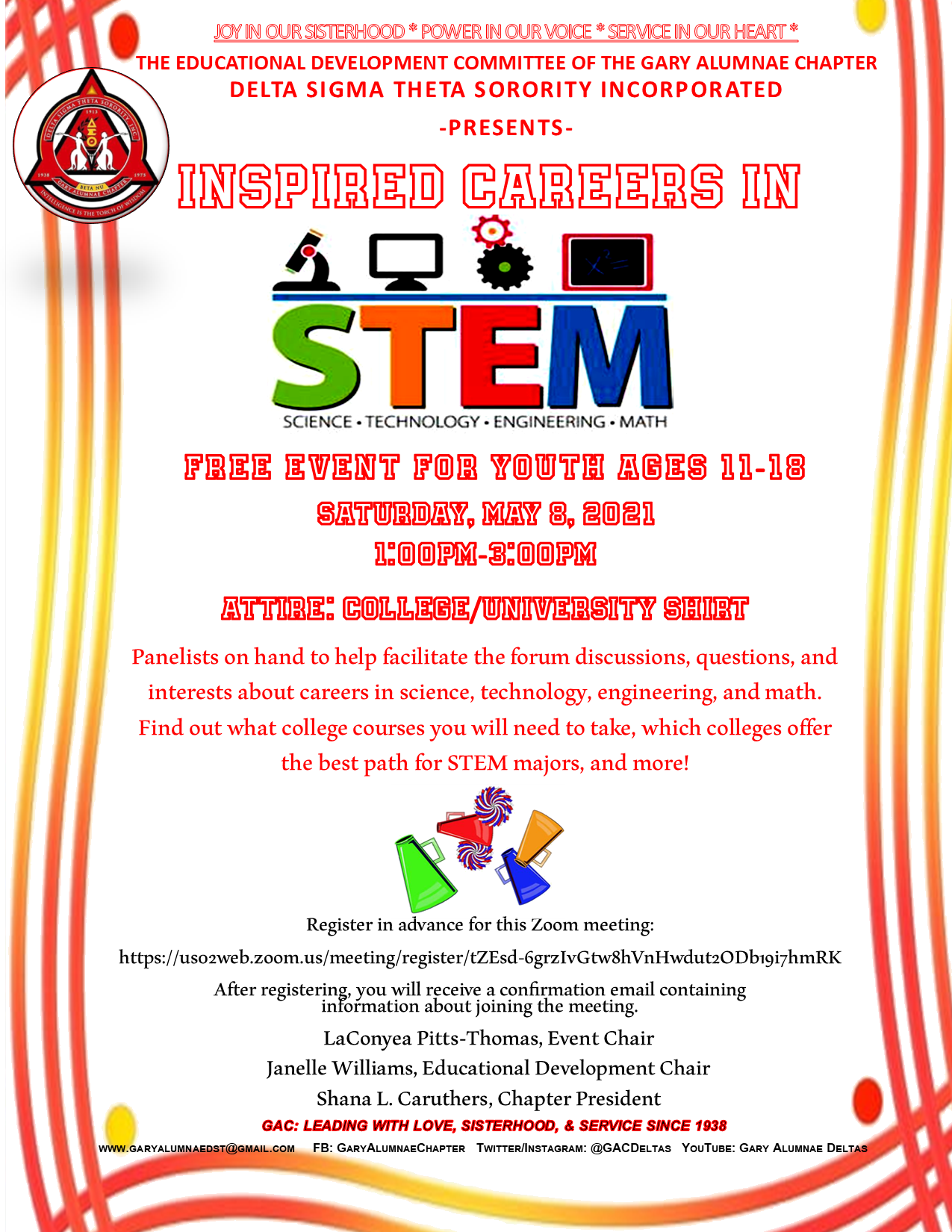 INSPIRED CAREERS IN STEM (CLICK ON THE FLIER)