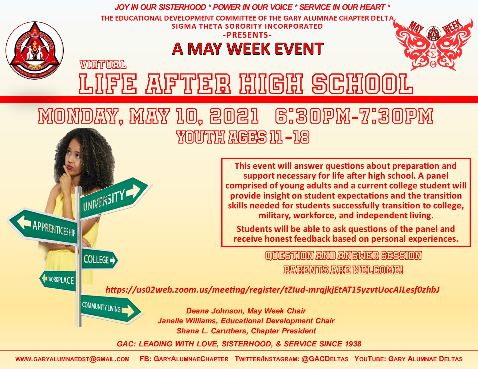 MAY WEEK- LIFE AFTER HIGH SCHOOL (MONDAY) CLICK THE FLYER