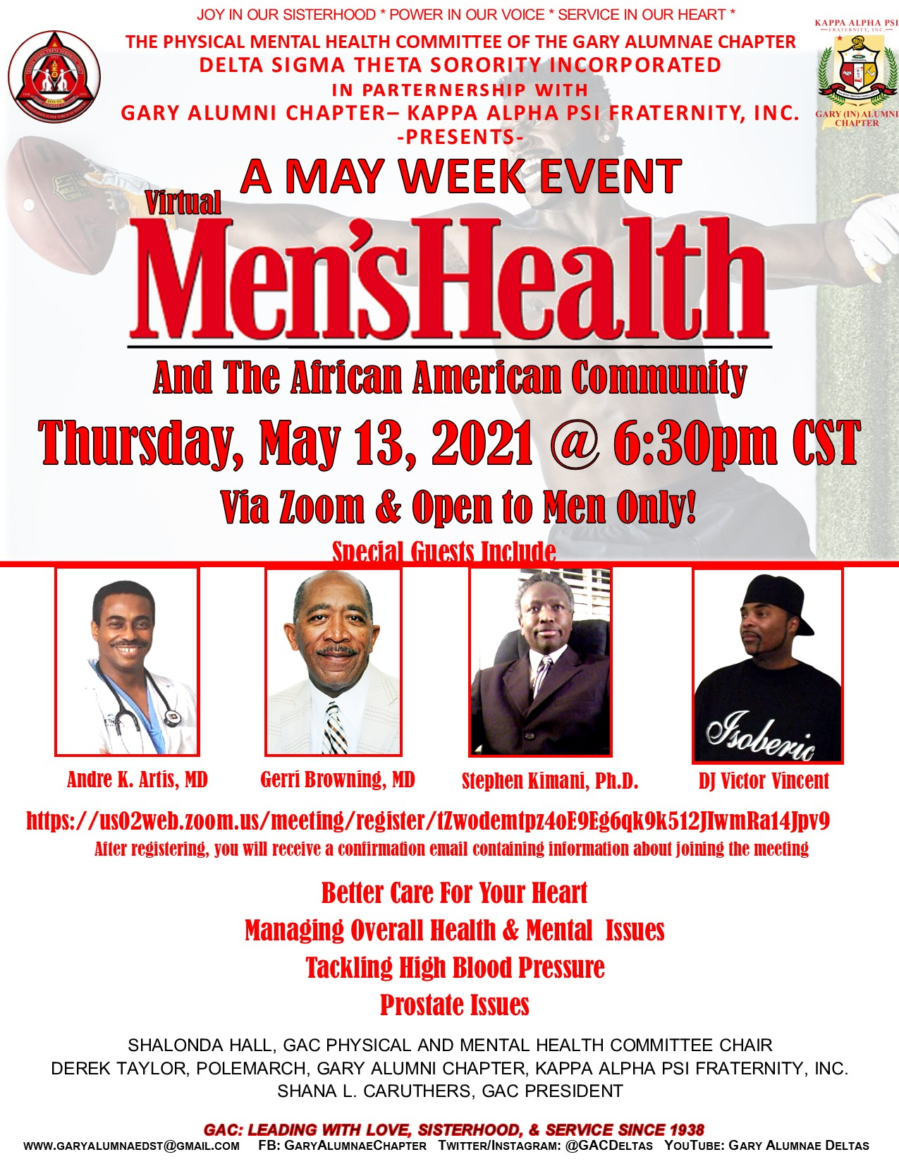 MAY WEEK- MEN'S HEALTH & THE AFRICAN AMERICAN COMMUNITY (THURS) CLICK ON THE FLYER